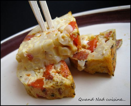 frittata pâtes poivron chorizo