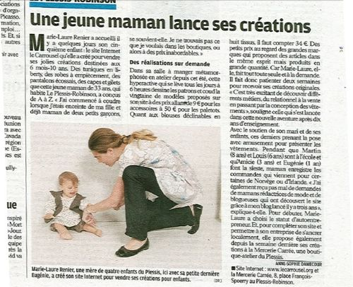 Article Le Parisien 280910