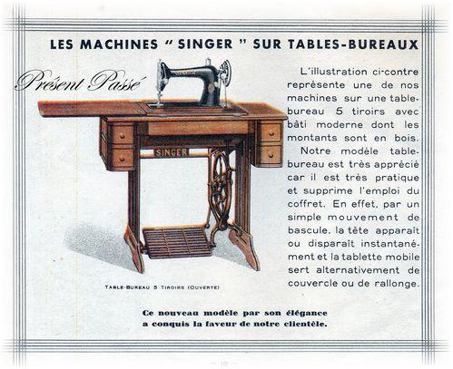 les machines SINGER sur tables-bureaux 12