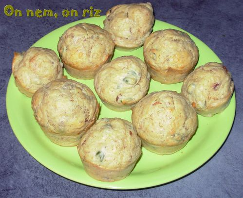 Muffins rillettes & pistaches1