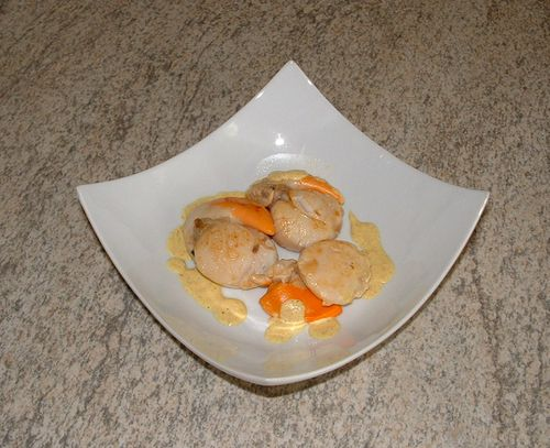 Saint jacques au curry le blog de cuisin 39 story cuisine - Cuisiner les coquilles saint jacques ...