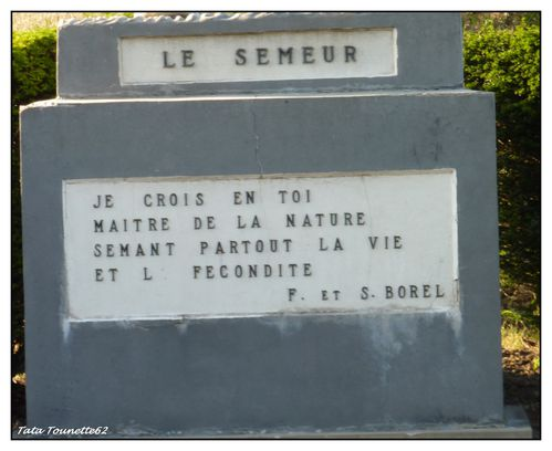Socle Le Semeur - Clerques