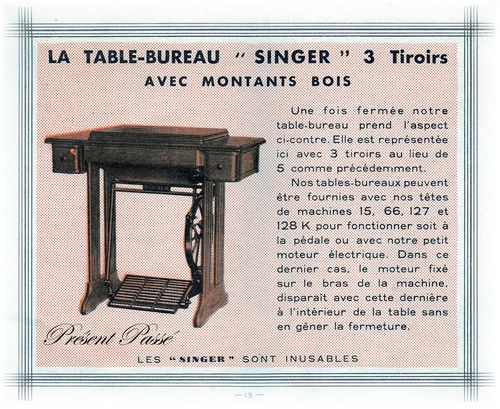 table-bureau SINGER 3 tiroirs 13