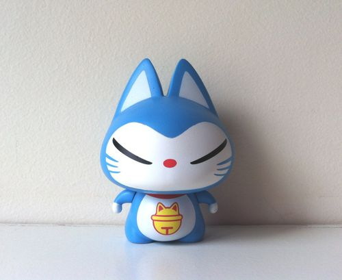 Figurine Chat Coloris Gris Clair : Art toys karo kawaii and co