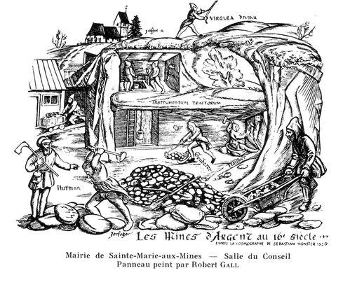 mines d'argent XVI e siècle