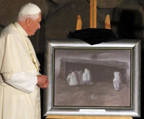Felix Nussbaum was presented to Pope Benedict XVI at the Ya