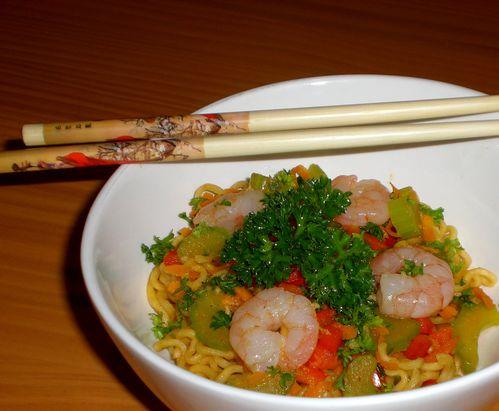 wok spicy crevettes