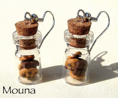 Boucles fioles cookies/choco 1 DISPONIBLE: 12 euros.