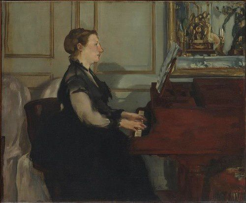 8 Madame Manet 1868 Mme Manet au piano Orsay