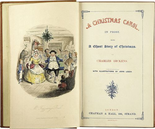 Charles Dickens-A Christmas Carol-Title page-First edition