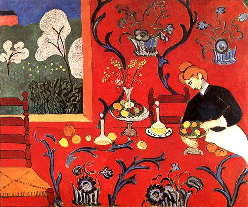 Matisse the dessert harmony in red harmonie en rouge