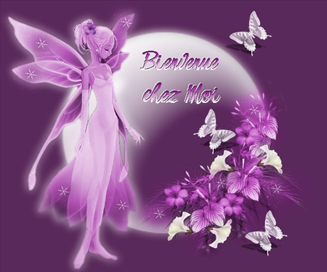 Fee bienvenue violette