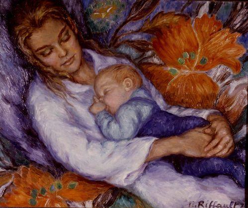 Bon Lundi 1975-FEMME-ET-ENFANT-ENDORMIS