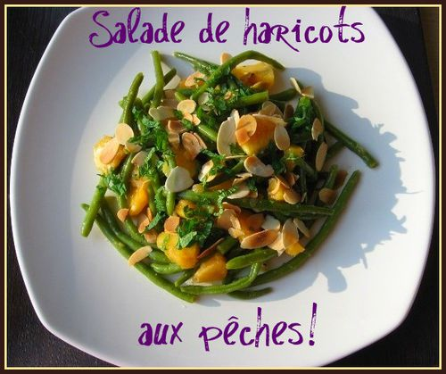 salade haricots verts pêches 001