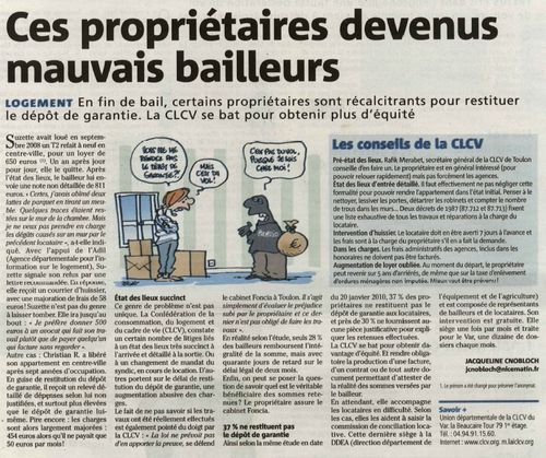 Article Var Matin du 5 mars 2010