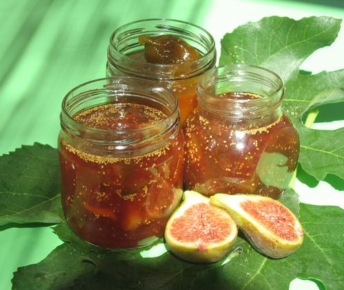 confiture de figues avec orange