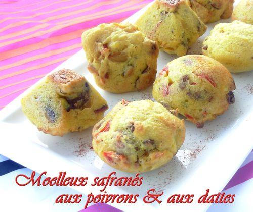 Moelleux safranés aux poivrons & aux dattes2