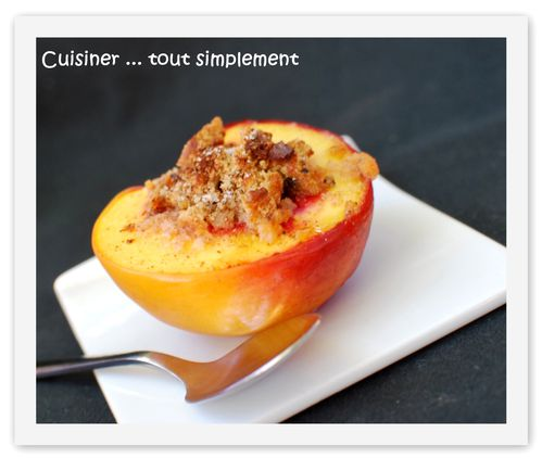 Nectarine au four1