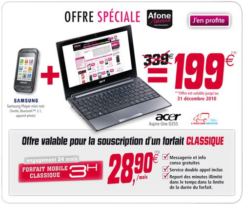 une offre t l phone mobile et pc portable acer pas cher le blog bon plan mobile bon plan. Black Bedroom Furniture Sets. Home Design Ideas