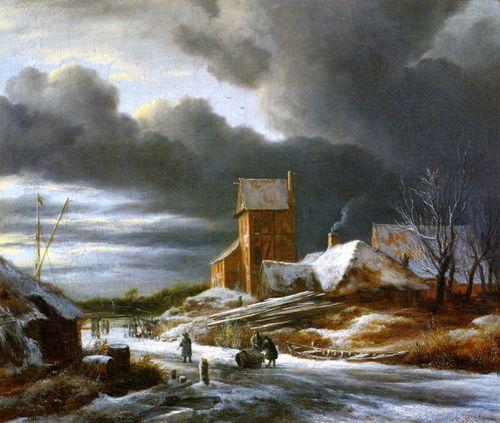 Ruisdael paysage sous la neige
