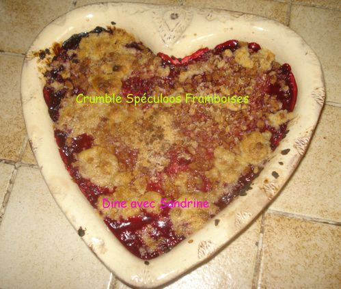 Crumble Spéculoos Framboises 7
