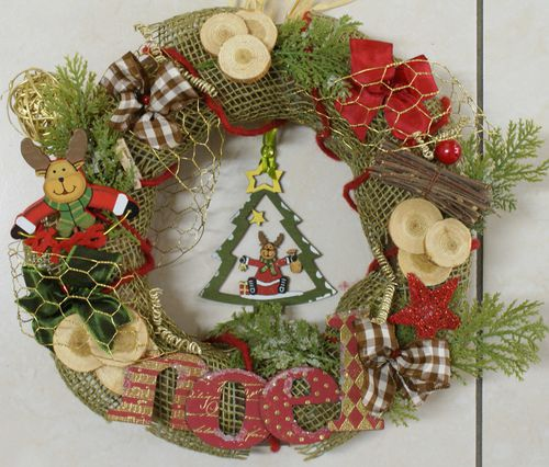 Home deco scrap ange - Deco couronne de noel ...