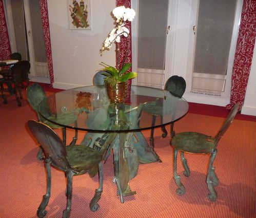 Lutetia paris suite arman salon table