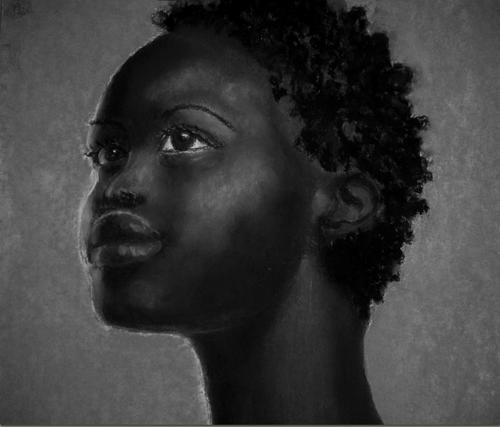dessin femme noire