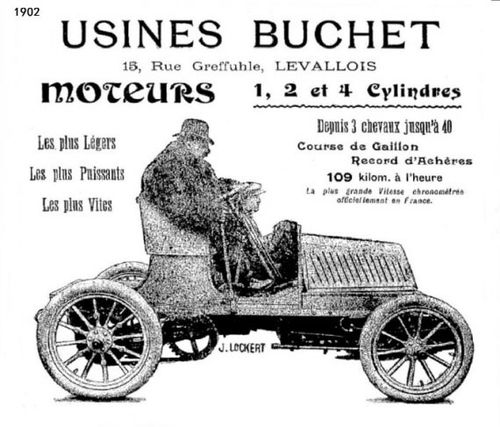 1902 Buchet himself en auto