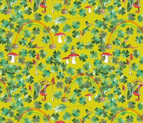 tissu motif Leprechaun