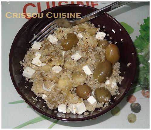 salade quinoa aubergine et feta