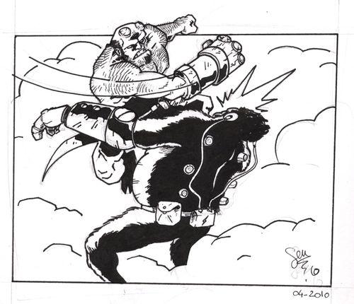 hellboy vs gorille 2