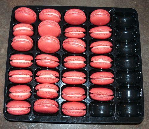 macarons fraise tagada