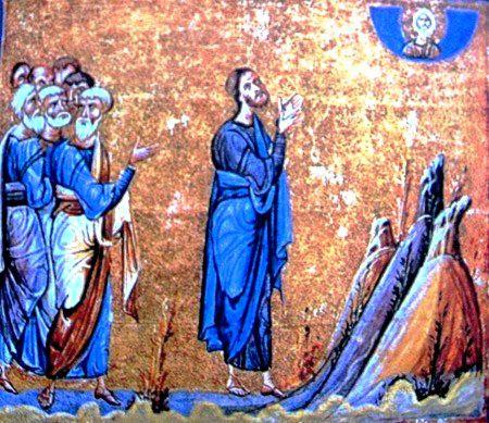 Miniature-Mont-Athos-Jesus-priant-son-Pere