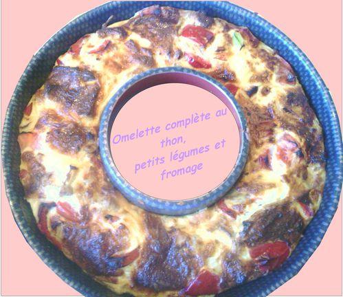 ww omelette compl te au thon petits l gumes et fromage chris cuisine quelque part en normandie. Black Bedroom Furniture Sets. Home Design Ideas