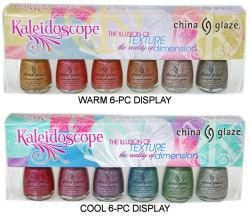 china glaze kaleidoscope warm and cool displays