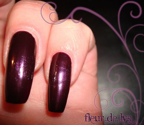 Vernis ongles opi testé : Lincoln park after midnight