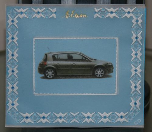 Carte Anniversaire voiture