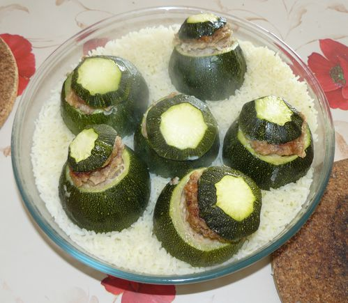 courgettes farcies au micro ondes