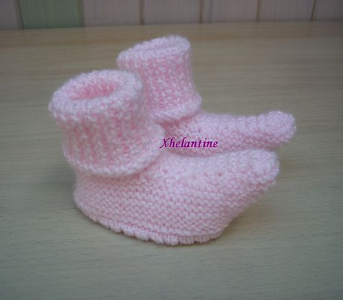 chaussons polichinelle roses 1