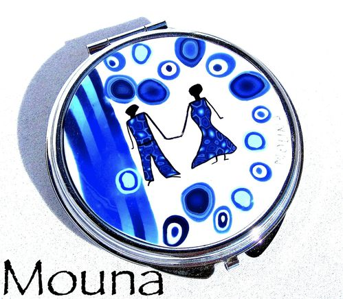 Miroir de sac Blue lovers 1 DISPONIBLE: 20 euros.