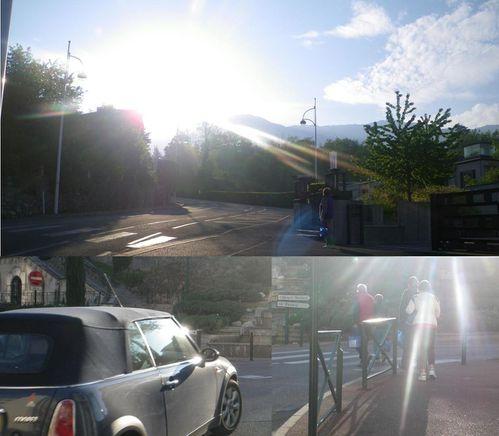 panneau routier soleil