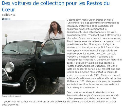 article la depeche oct 2010mecacoeur