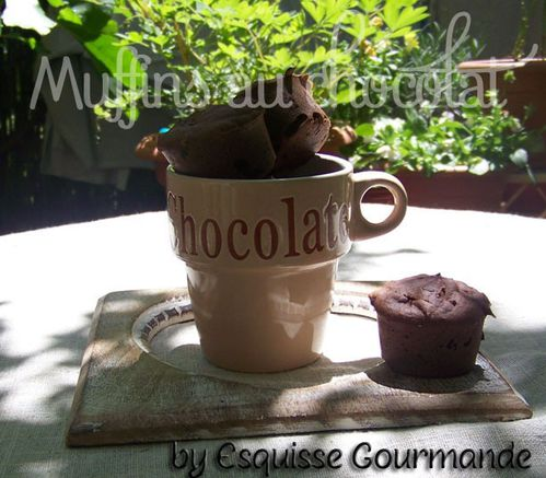 Muffins choco moelleux
