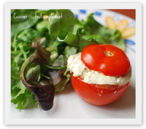 Tomates Chèvre-pestou