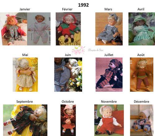Modes et Travaux - Patrons poupée 1992