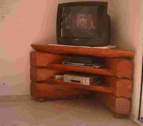 meuble tv rondins