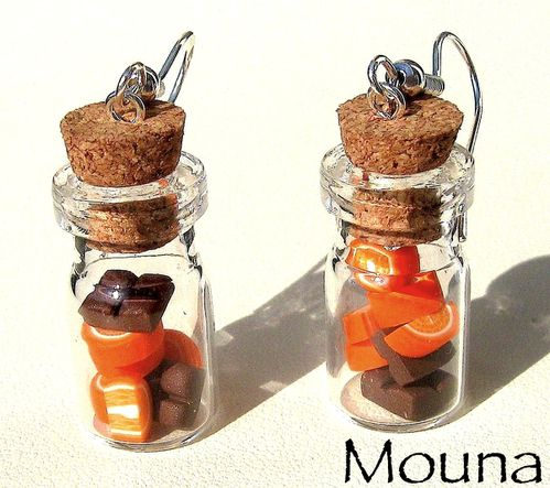 Boucles fioles choco/orange 1 DISPONIBLE: 12 euros.