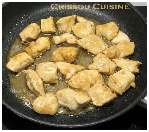 poulet caramélisé gingembre