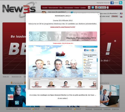 presidentielle 2012 3d be leader be 3d web new3s
